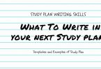Study Plan Essay Writing