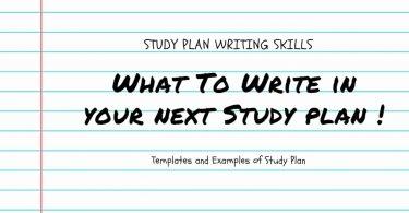 Study Plan Essay Writing