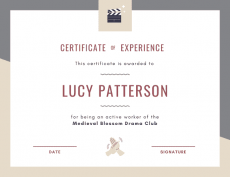 Experience Certificate Example - Experience Certificate template