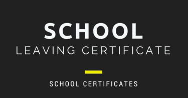 School Leaving Certificates examples and templates