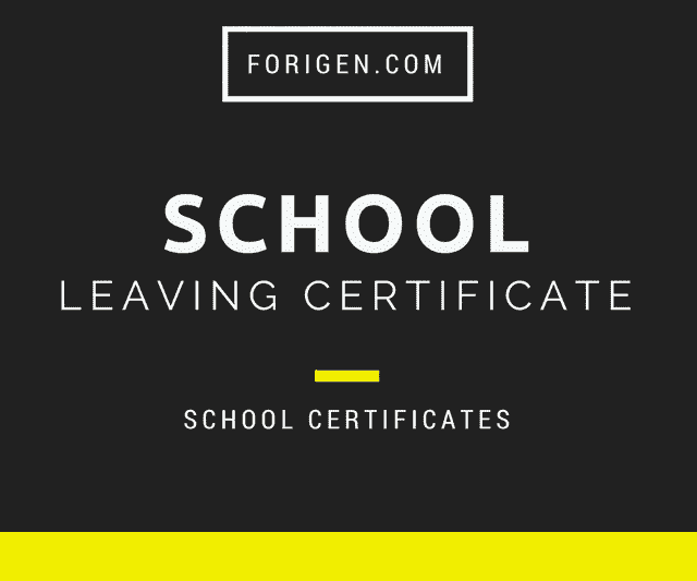 School Leaving Certificate Template And Examples Of School Leaving