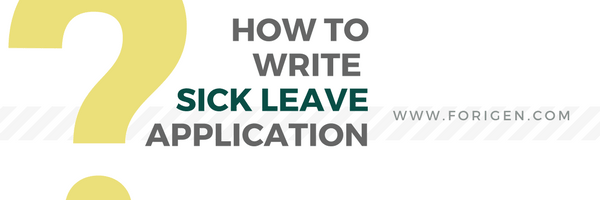Sick Leave Application Sample Application For Sick Leave How To