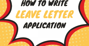 Leave Letter Application