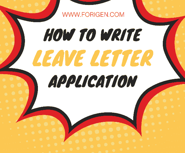 Leave application leave letter how to write a leave letter leave letter application altavistaventures Image collections