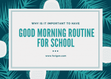Good Morning Routine for School