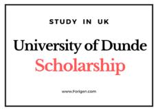 University of Dundee Scholarship UK 2021