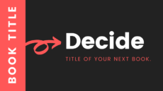 How to decide title of a book