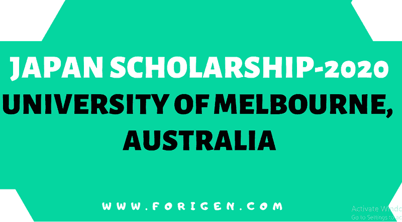 Japan Scholarship Program - University of Melbourne, Australia 2020-2021