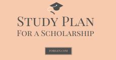study plan template study plan sample example