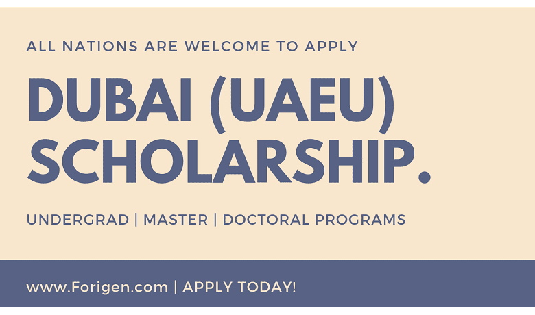 Dubai Scholarship by United Arab Emirates University (UAEU)