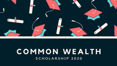 Common Wealth Scholarship 2020
