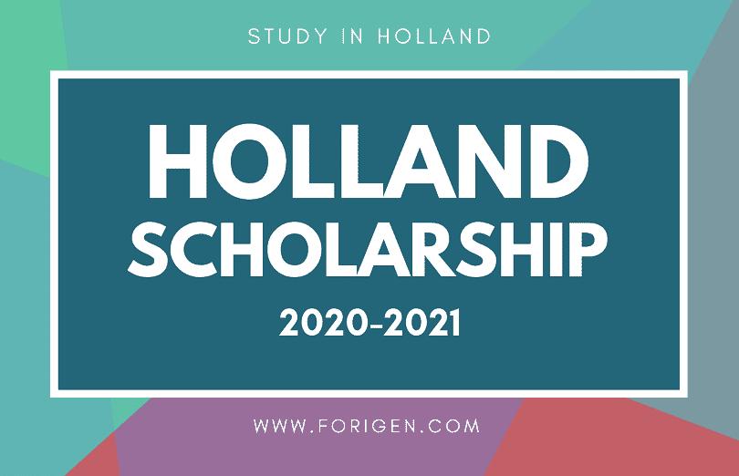 Holland Scholarship 2020-2021