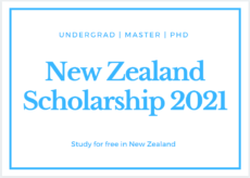 New Zealand Government Scholarship 2021