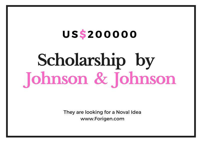 Johnson & Johnson US$200000 Fund Scholarship for International Students