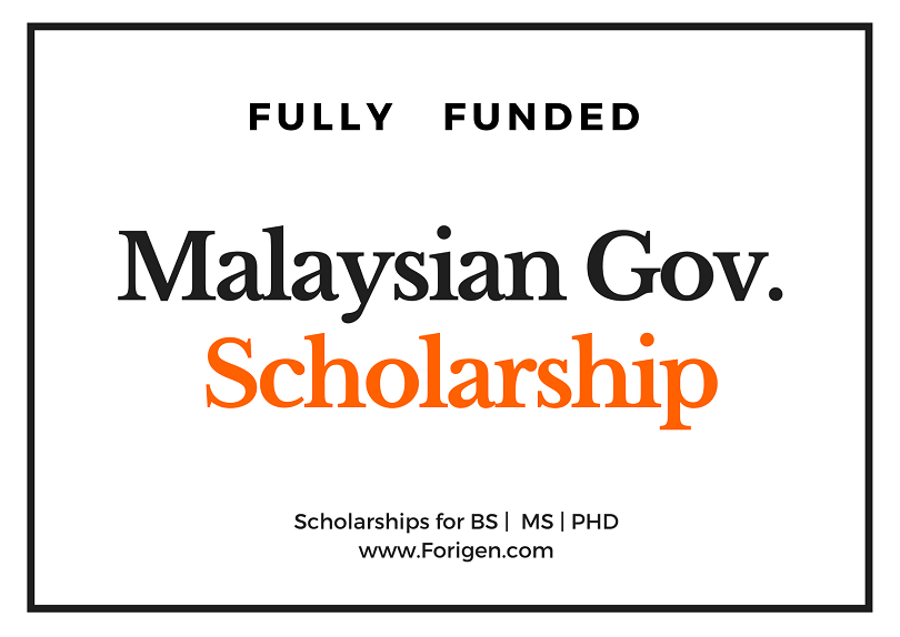 Malaysian Government Scholarship for international Students 2020-2021