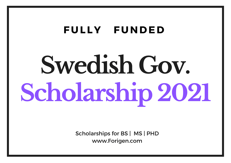 Swedish Institute Scholarships for Global Professionals (SISGP) 2021