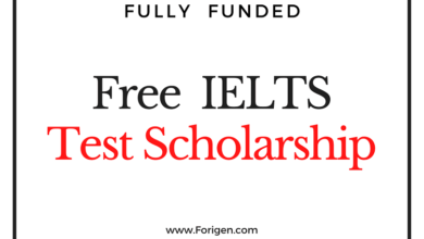 Fully Funded IELTS Exam Fee Waiver Scholarship Award 2021