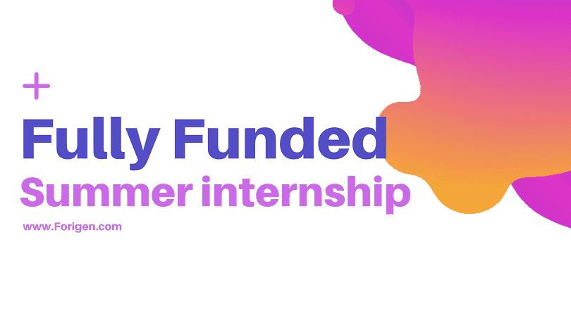 KAUST Summer Internship 2020-2021 (Fully Funded)