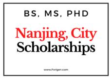Nanjing Municipal Government Scholarship 2021 - Online Application Open
