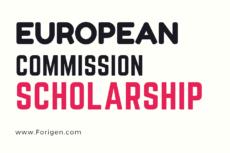 European Commission Scholarships 2021-2022