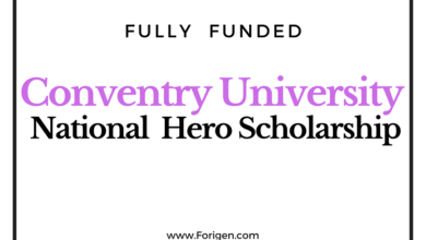 National Hero Award 2021 at Coventry University (UK) Scholarship for international Students