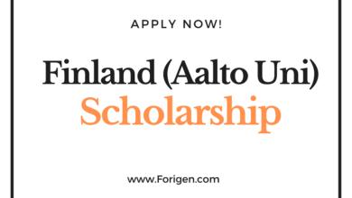 Aalto University (Finland) Scholarship