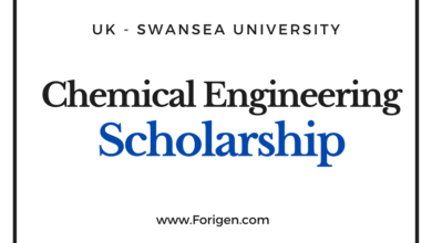 Chemical Engineering Scholarship by Swansea University, United Kingdom.
