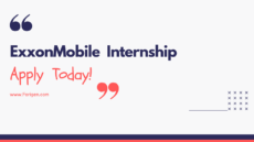 ExxonMobil Internship vacancy