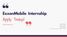ExxonMobil Internship vacancy