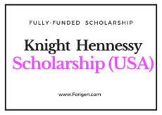 Knight-Hennessy Scholarship 2021-2022 (Stanford University)