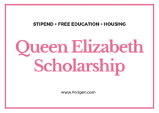 Queen Elizabeth Commonwealth Scholarship 2021-2022 (QECS 2021-2022)