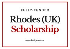 Rhodes Scholarships 2021-2022 (Applications Open)