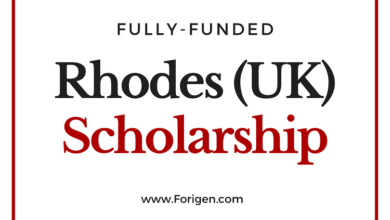Rhodes Scholarships 2021-2022 (Applications Open)