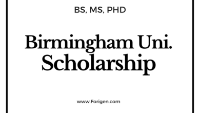 University of Birmingham Scholarship 2021-2022 for international Students