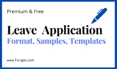 Leave Application Letter Samples (Leave Application Email Formats) College, School, and Office Formats for Leave Applications