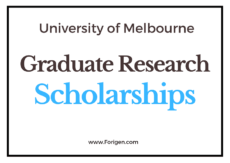 University of Melbourne Graduate Research Scholarships