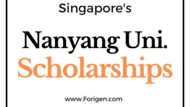 Nanyang Technological University Scholarships in Singapore 2021-2022