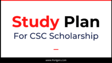 Study Plan for CSC Scholarship Study Plan Writing for Chinese Scholarship