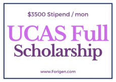 UCAS Scholarship for International Students 2021-2022 Call for Applications
