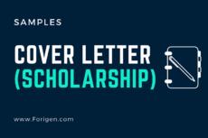 2021 Cover Letter Samples for Scholarships