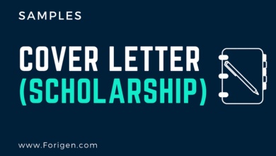 2021 Cover Letter Samples for Scholarships