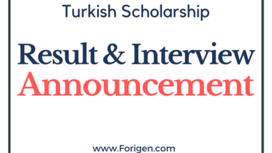 Turkey Government Scholarship Interview & Result Announcement 2021-2022