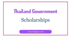 Thailand Government Scholarships