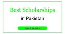 Best Scholarships in Pakistan