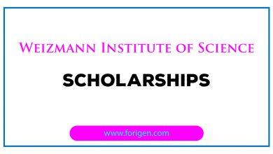 Weizmann Institute of Science Scholarships