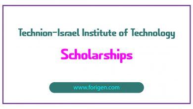 Technion–Israel Institute of Technology Scholarships
