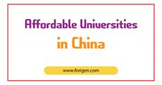 Affordable Universities in China