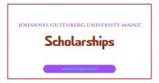 Johannes Gutenberg University Mainz Scholarships