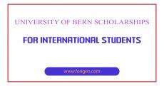 University of Bern Scholarships for International Students